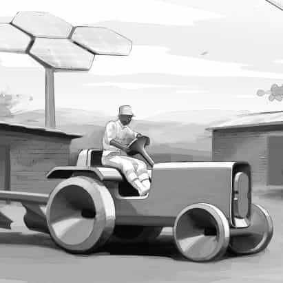 AMO y Volkswagen proponen diseño del tractor eléctrico para el África subsahariana