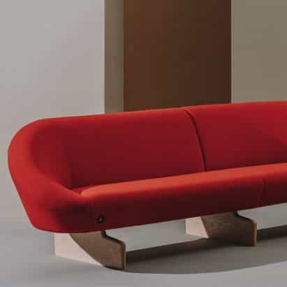 "Alfredo Häberli crea sofá Giro suave ""arquitectura"" de Andreu World"