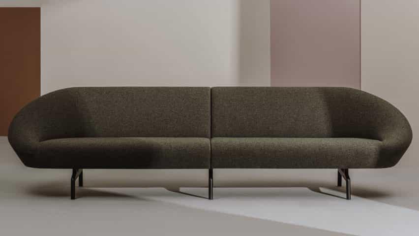 Negro chica suave sofá por Alfredo Häberli para Andreu World