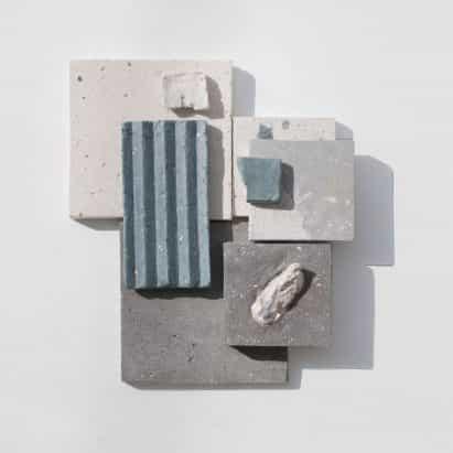 Sea Stone es un material similar al hormigón hecha de conchas