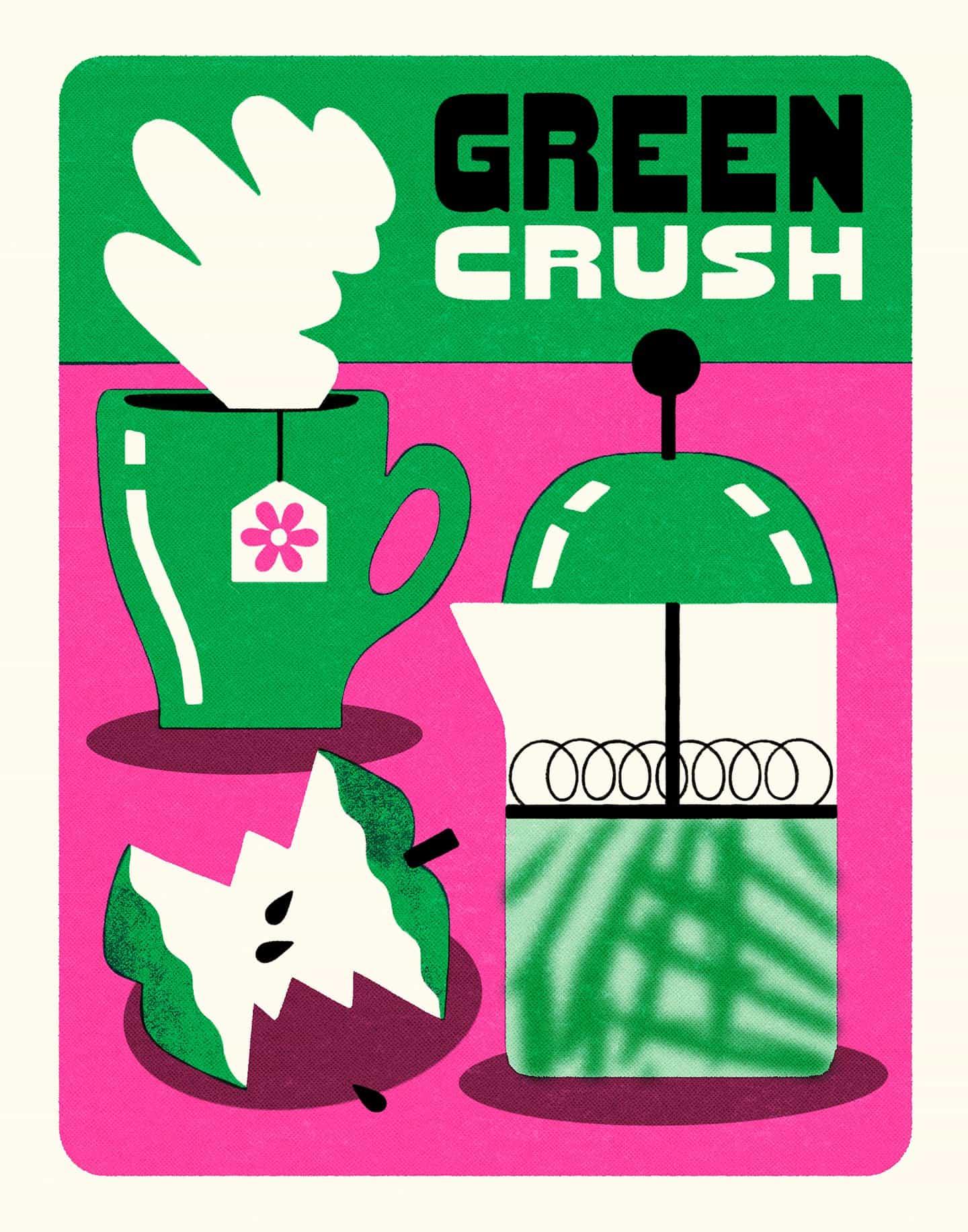 serie de Aless Mc cincuenta tonos de verde ilustra diferentes cepas de cannabis