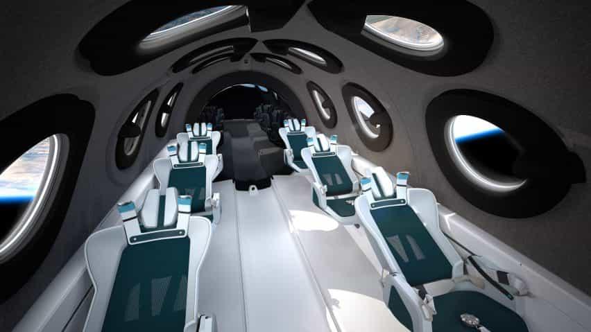 Virgin Galactic presenta interior de la cabina SpaceShipTwo diseñado con Seymourpowell